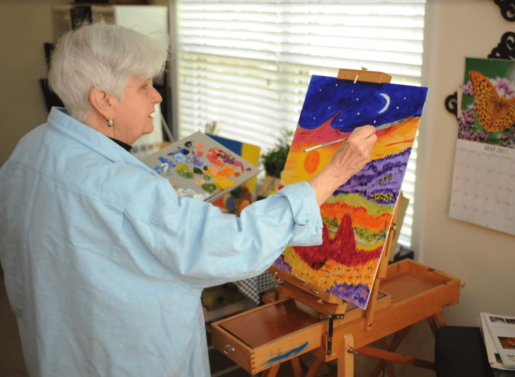 resident painting for art gallery
