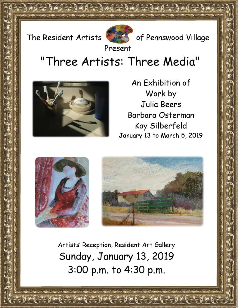 """Three Artists: Three Media"" Art Gallery"