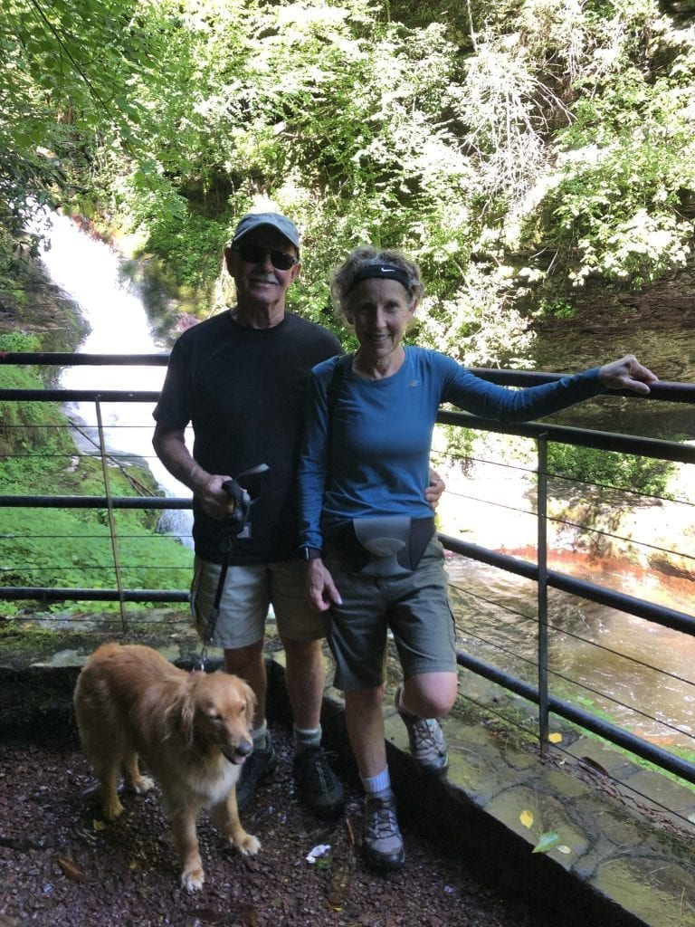 David and Judith, after joining the Pennswood waitlist, go on a hiking trip